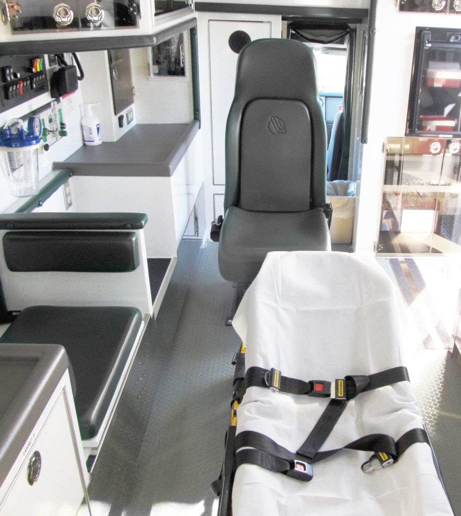 Interior of an ambulance
